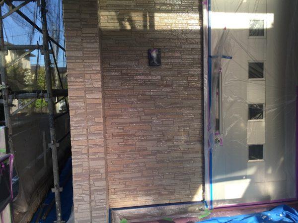 外壁のクリヤー塗装2回目作業完了