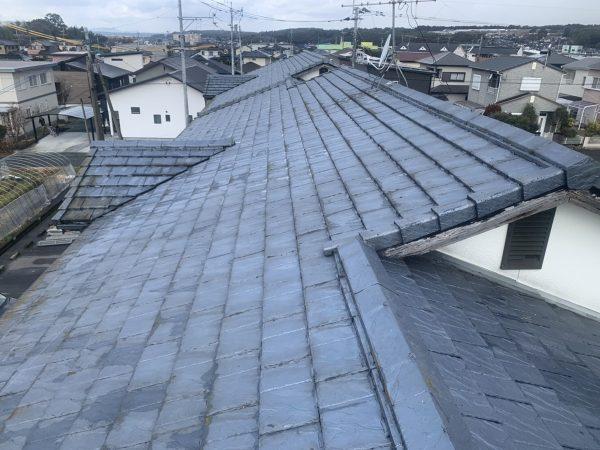 屋根の洗浄前状況