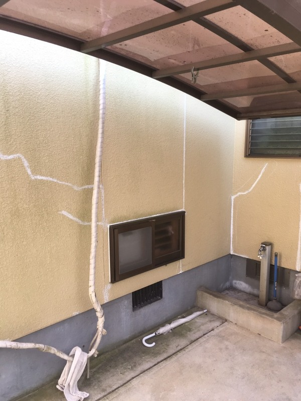 大津町、菊陽町  作業内容    外壁クラック補修サムネイル
