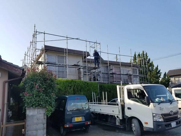 熊本市西区 アパート屋根外壁塗装工事サムネイル
