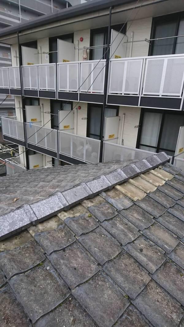 熊本市万町 瓦屋根修理 耐震強化棟葺きサムネイル