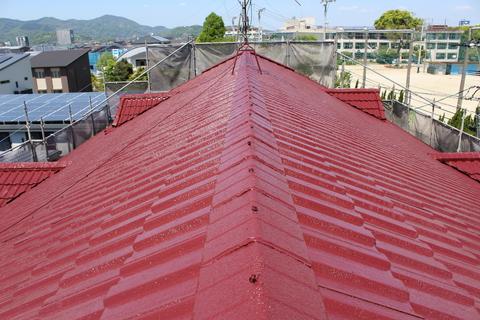 熊本市南区刈草 アパート屋根塗装工事サムネイル