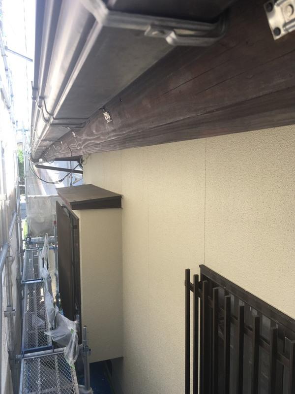 益城町広崎M様邸 外壁塗装工事 幕板木部塗装 樋塗装サムネイル