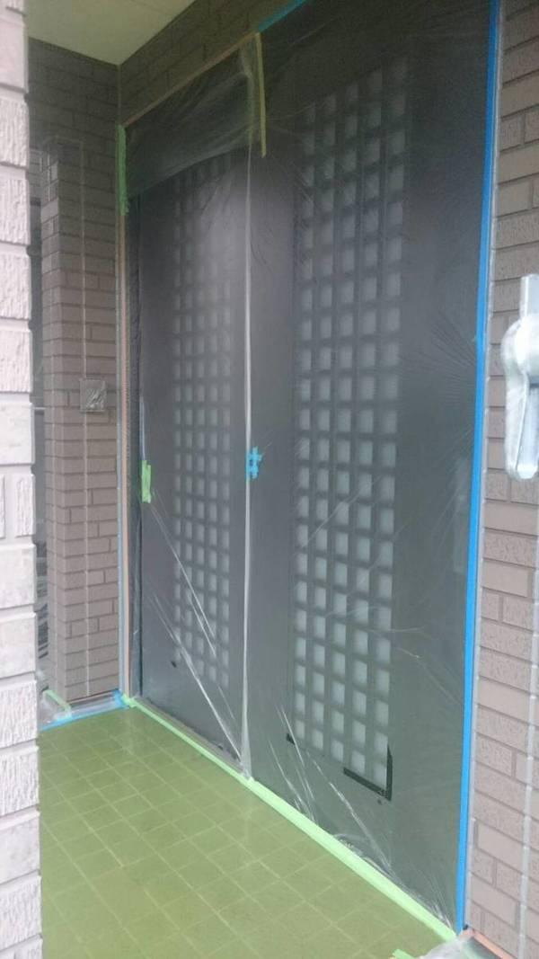 熊本市東区御領K様邸 外壁塗装・屋根塗装 養生作業サムネイル