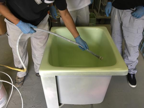 岡山 浴室樹脂コーティングシステム技術研修 2日目サムネイル