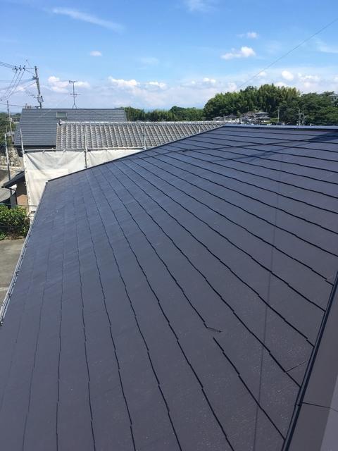 熊本市西区花園 アパート屋根塗装工事サムネイル
