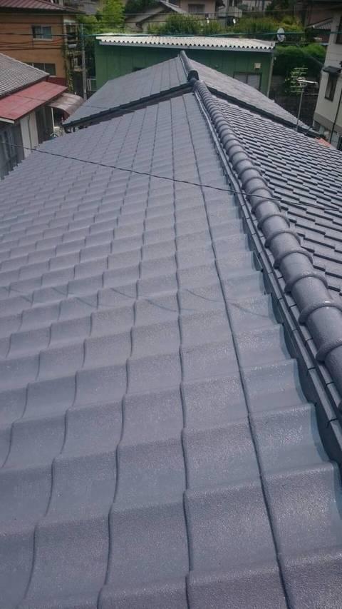 熊本市北区清水 借家 屋根塗装工事サムネイル