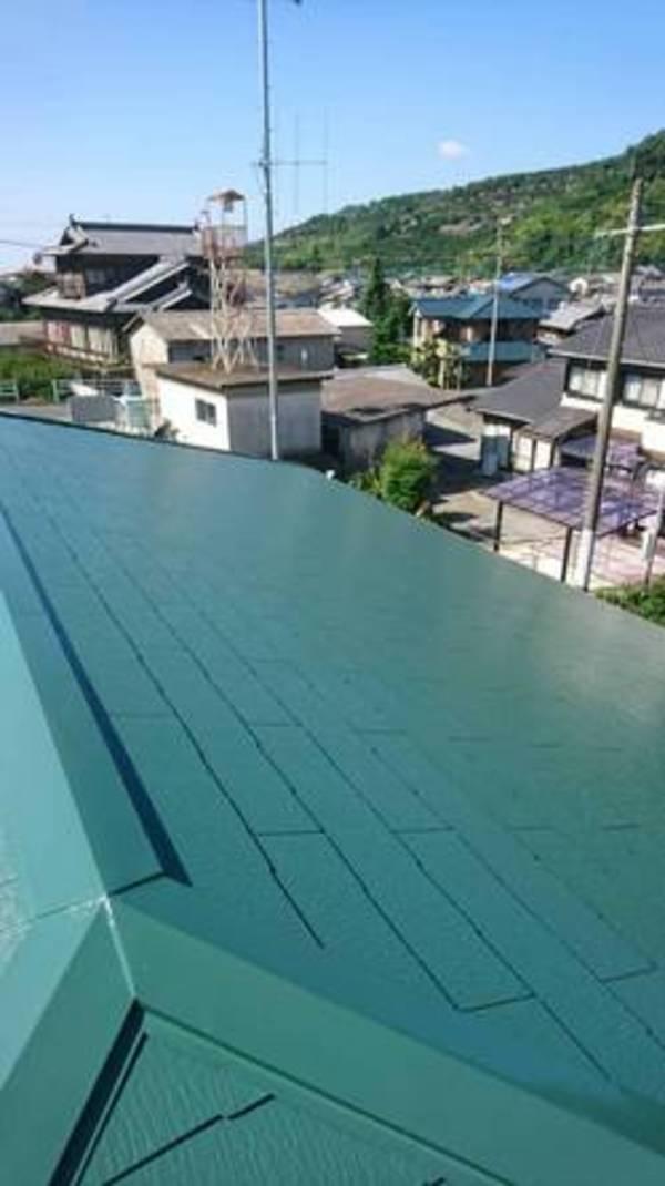 熊本市西区河内公民館 屋根遮熱塗装工事サムネイル