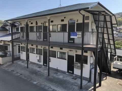熊本市西区島崎 アパート屋根外壁塗装工事サムネイル