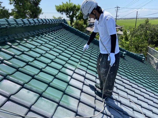 熊本市南区畠口町 U様邸屋根塗装工事サムネイル