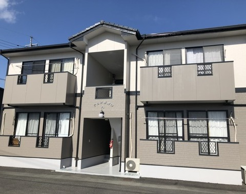 菊池市 アパート屋根外壁塗装工事