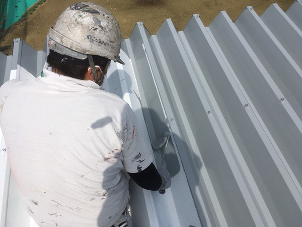 熊本市西区 折半屋根塗装工事サムネイル