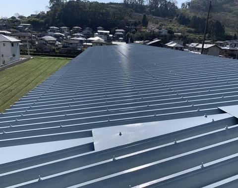 熊本市西区 折半屋根塗装工事